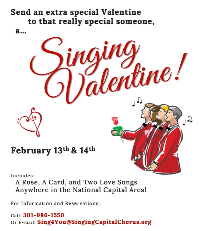 the singing capital chorus singing valentines 2014